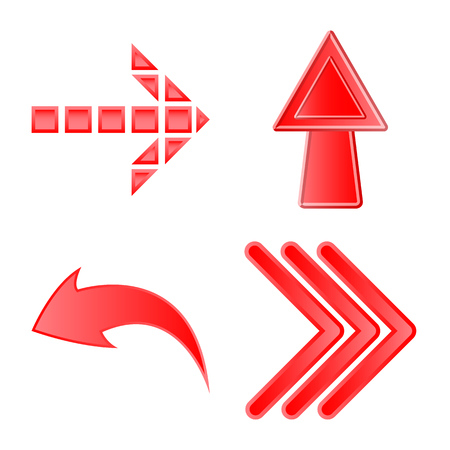 Vector design of element and arrow icon. Set of element and direction stock vector illustration. Illustration