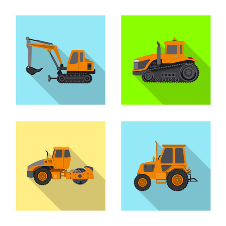 Vector illustration of build and construction logo. Set of build and machinery vector icon for stock.