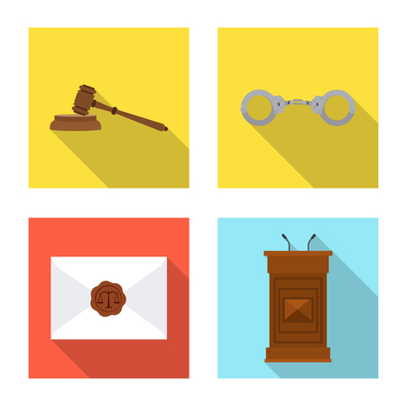 Vector design of law and lawyer icon. Collection of law and justice vector icon for stock. 일러스트