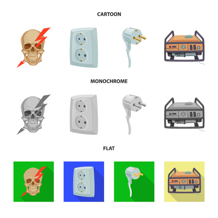 Vector illustration of electricity and electric icon. Collection of electricity and energy stock vector illustration. Фото со стока - 109656346