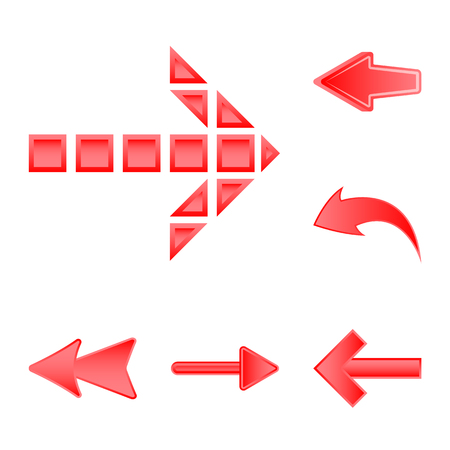 Vector design of element and arrow sign. Collection of element and direction vector icon for stock.