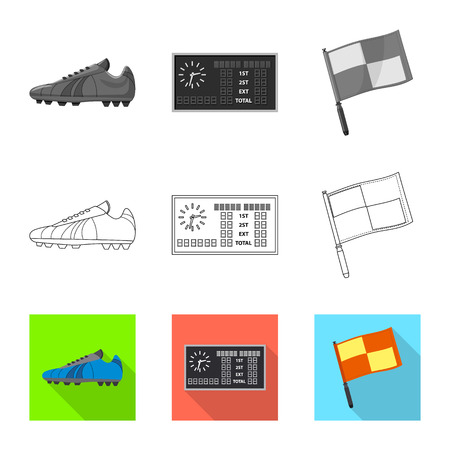 Isolated object of soccer and gear symbol. Collection of soccer and tournament vector icon for stock.