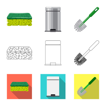 Isolated object of cleaning and service icon. Set of cleaning and household stock symbol for web.