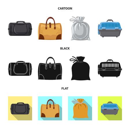 Vector illustration of suitcase and baggage logo. Collection of suitcase and journey stock symbol for web.