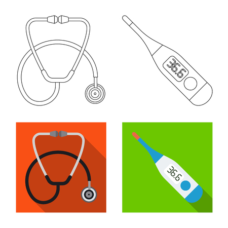 Vector illustration of pharmacy and hospital icon. Collection of pharmacy and business vector icon for stock.