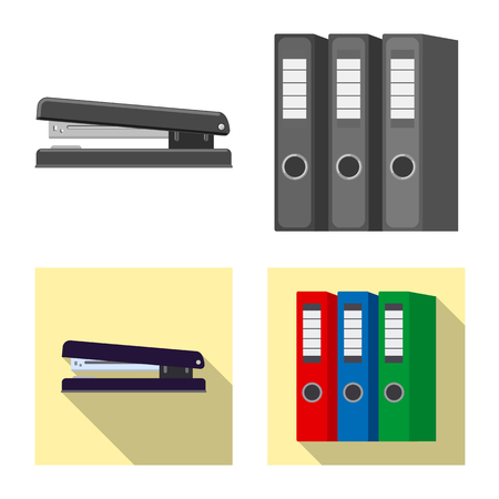 Isolated object of office and supply sign. Collection of office and school stock symbol for web.