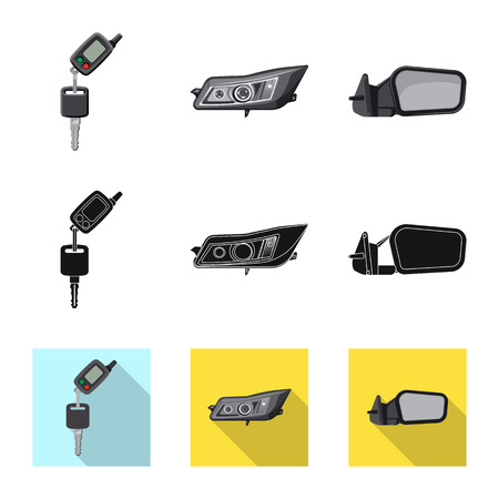Isolated object of auto and part sign. Set of auto and car stock vector illustration.