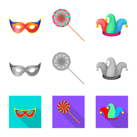 Vector design of party and birthday symbol. Collection of party and celebration stock symbol for web.