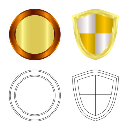 Isolated object of emblem and badge logo. Set of emblem and sticker vector icon for stock. Stockfoto - 110066404