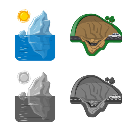 Isolated object of natural and disaster symbol. Collection of natural and risk vector icon for stock.