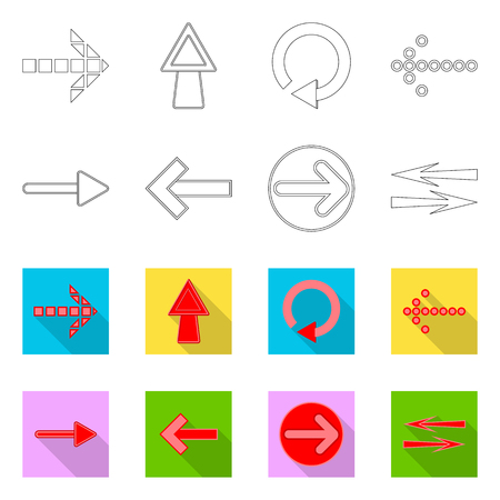 Isolated object of element and arrow logo. Collection of element and direction stock vector illustration. Иллюстрация