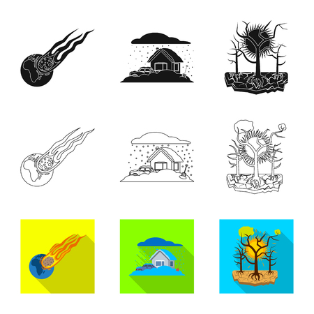 Vector illustration of natural and disaster icon. Collection of natural and risk stock vector illustration.