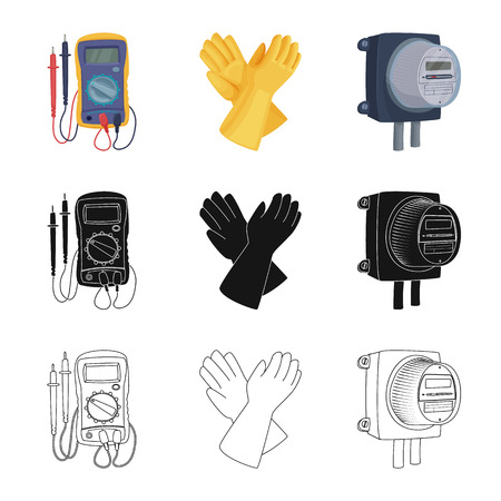 Vector design of electricity and electric icon. Set of electricity and energy vector icon for stock. Vector Illustration