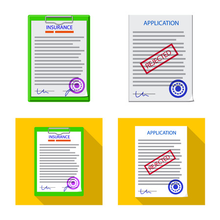 Isolated object of form and document icon. Set of form and mark vector icon for stock.