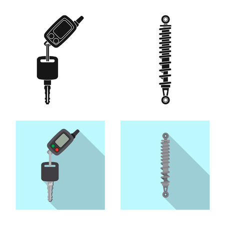 Isolated object of auto and part sign. Set of auto and car vector icon for stock. Illustration