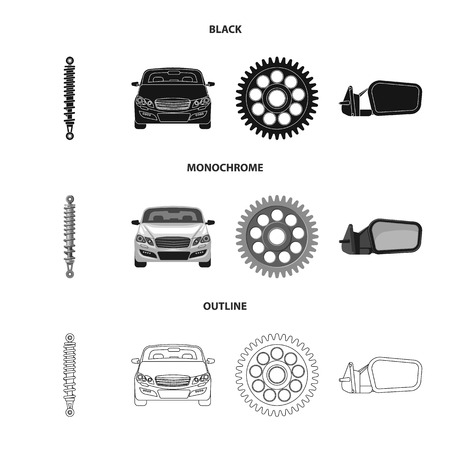 Vector illustration of auto and part logo. Set of auto and car stock symbol for web. Standard-Bild - 110733505