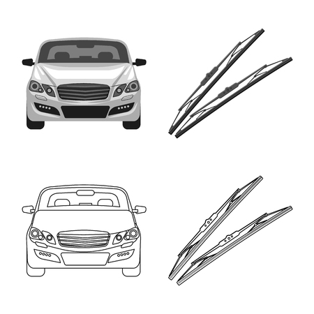 Vector illustration of auto and part symbol. Collection of auto and car vector icon for stock. Foto de archivo - 110290016