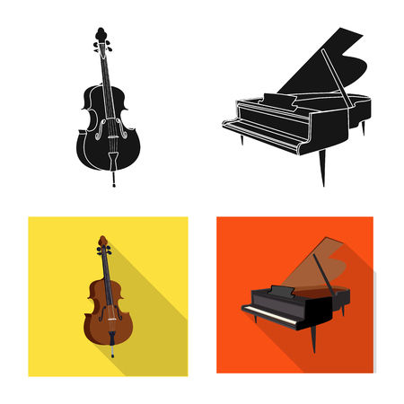 Vector design of music and tune logo. Set of music and tool vector icon for stock. Banque d'images - 110331568