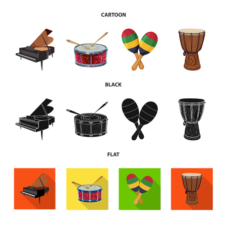 Vector design of music and tune icon. Collection of music and tool vector icon for stock.