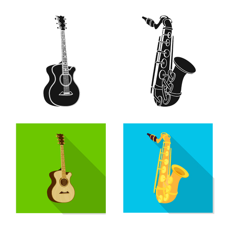 Vector design of music and tune logo. Collection of music and tool stock symbol for web. Ilustração