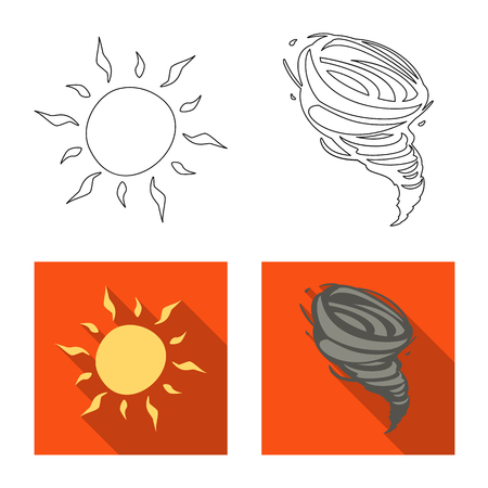 Vector illustration of weather and climate symbol. Collection of weather and cloud vector icon for stock.