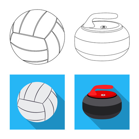 Vector illustration of sport and ball logo. Set of sport and athletic stock symbol for web. Illustration