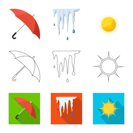 Objet isolé du logo météo et climat. Collection de symbole boursier météo et nuage pour le web.