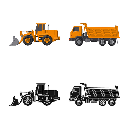 Vector illustration of build and construction symbol. Set of build and machinery stock vector illustration. 일러스트