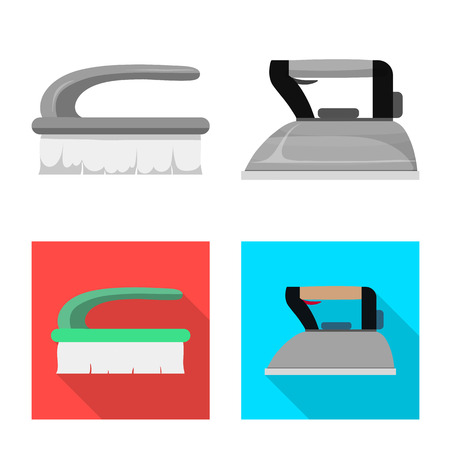 Isolated object of laundry and clean icon. Set of laundry and clothes stock symbol for web.