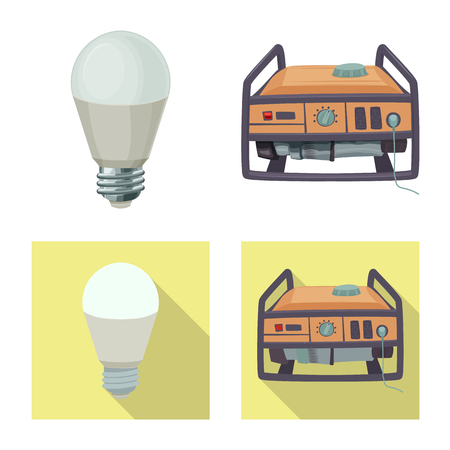 Isolated object of electricity and electric sign. Collection of electricity and energy stock symbol for web.
