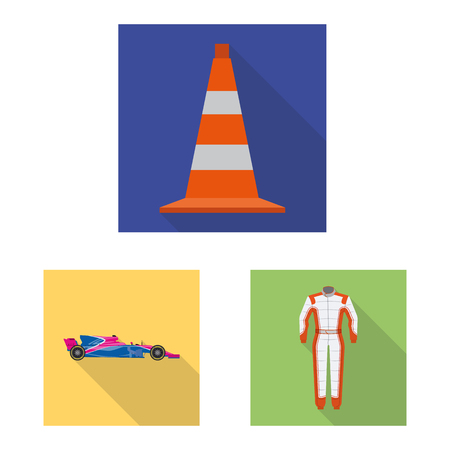 Isolated object of car and rally symbol. Set of car and race stock vector illustration. 写真素材 - 110663414