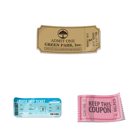 Isolated object of ticket and admission sign. Collection of ticket and event stock symbol for web.