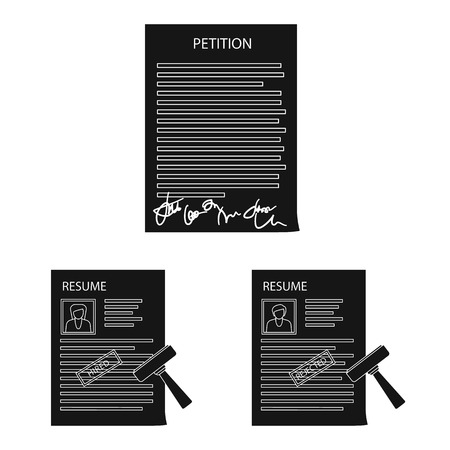 Vector design of form and document symbol. Collection of form and mark vector icon for stock.