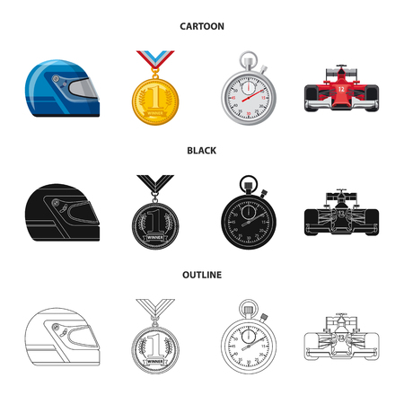 Vector design of car and rally symbol. Collection of car and race stock symbol for web. 写真素材 - 110664406