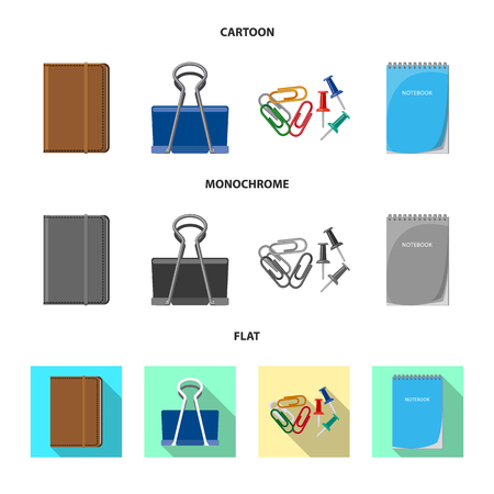 Isolated object of office and supply logo. Set of office and school vector icon for stock.