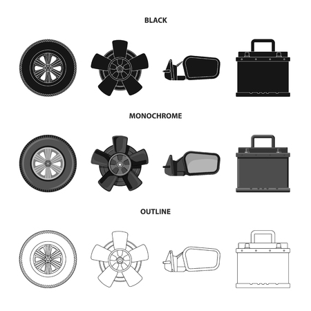 Vector design of auto and part logo. Set of auto and car vector icon for stock. Standard-Bild - 110741667