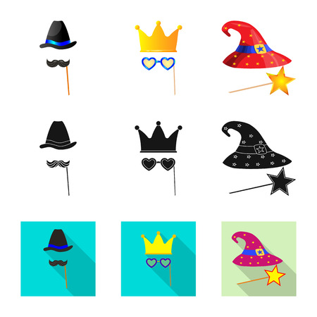 Isolated object of party and birthday icon. Collection of party and celebration stock vector illustration.