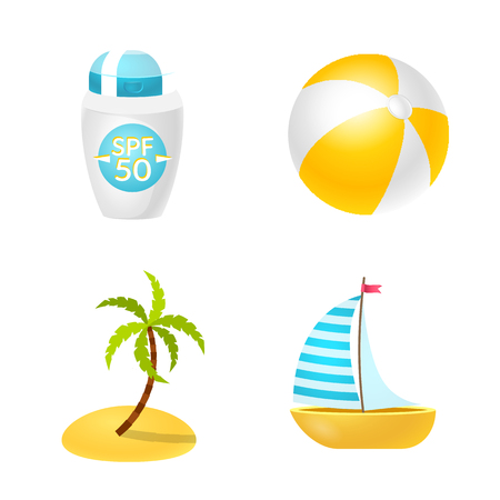 Vector illustration of equipment and swimming logo. Collection of equipment and activity stock symbol for web. Illustration