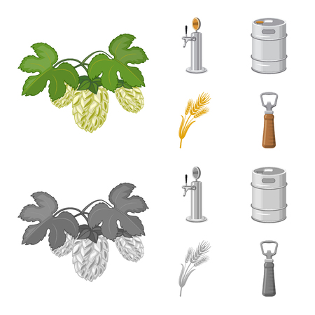 Vector illustration of pub and bar icon. Collection of pub and interior vector icon for stock.