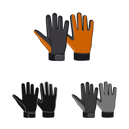 Isolated object of glove and winter icon. Collection of glove and equipment stock vector illustration. Banque d'images - 111093800