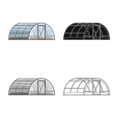 Vector illustration of greenhouse and plant logo. Set of greenhouse and garden stock vector illustration. Illustration