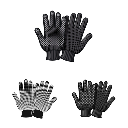 Isolated object of glove and winter logo. Collection of glove and equipment vector icon for stock.