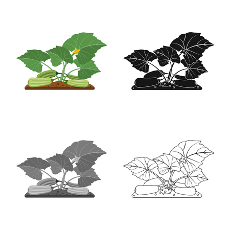 Vector illustration of greenhouse and plant logo. Collection of greenhouse and garden vector icon for stock. Ilustracja