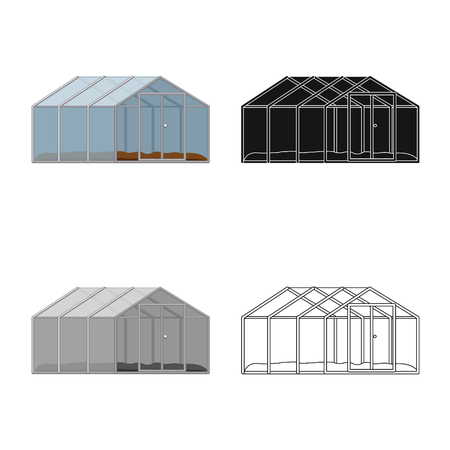 Isolated object of greenhouse and plant sign. Set of greenhouse and garden stock vector illustration.