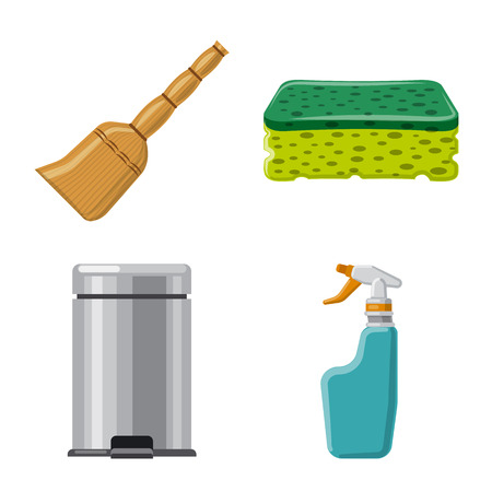Vector design of cleaning and service logo. Collection of cleaning and household stock vector illustration. Logo
