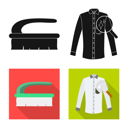 Isolated object of laundry and clean sign. Set of laundry and clothes vector icon for stock.
