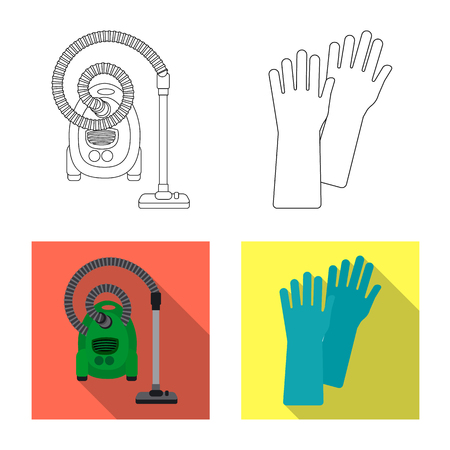 Vector illustration of cleaning and service symbol. Collection of cleaning and household stock vector illustration.
