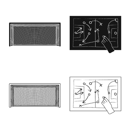Vector design of soccer and gear icon. Set of soccer and tournament vector icon for stock. Ilustrace