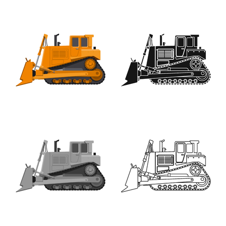 Vector design of build and construction symbol. Set of build and machinery stock vector illustration.