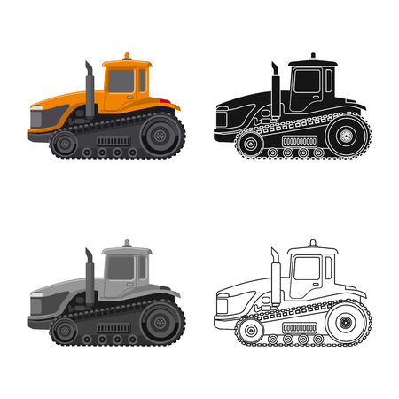 Vector design of build and construction symbol. Set of build and machinery vector icon for stock. Illustration